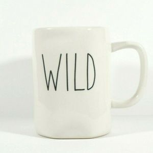 "RAE DUNN Ceramic Collection ""WILD"" Coffee Tea Mug"
